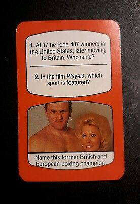Great Britain - JOE BUGNER - rare vintage Boxing game card