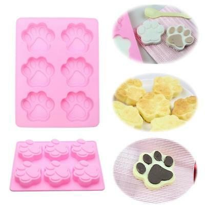 Cat Dog Pet Paw Print Silicone Mold Candy Fondant Cake Ice Chocolate DIY Soap Y