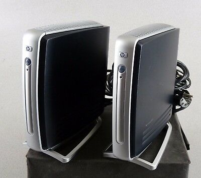 Lots of 2 HP Compaq T5710 Thin Clients w Power Supplies 800Mhz 256GB Free Ship