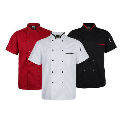Baoblaze Unisex Short Sleeve Chef Coat Jacket Restaurant Hotel Cook Uniform