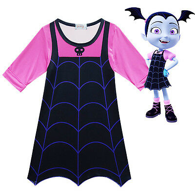 New Vampirina Girls Cosplay Costume Party Dresses Kid Skirts Fancy Dress Clothes