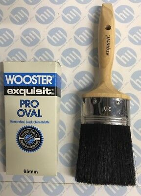 Wooster Exquisit Pro Oval Synthetic Paint Brush Professional Decorating 65mm