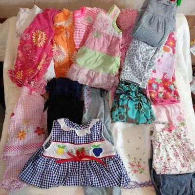 Nice Lot Of 18 Baby Girl Clothes Size 0-3 Mos, 3 Mos, 3-6 Mos, 6 Mos, 6-9 Mos