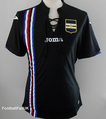 SAMPDORIA Official Joma 2018-2019 3rd Shirt NEW Third Jersey Maglia 18/19 Black