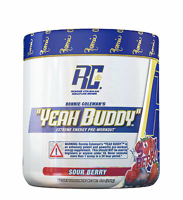 "Ronnie Coleman ""YEAH BUDDY"" Ultimate Pre-Workout 30 SERVINGS Choose Flavor - NEW"