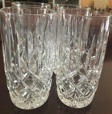 4 BEAUTIFUL Gorham Crystal Lady Anne Highball Glasses/Tumbler