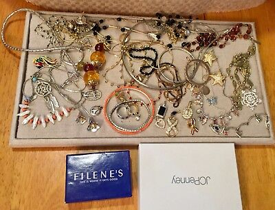 Vintage to Now Estate Costume Jewelry Lot Goldtone & Silvertone NICE Mix.