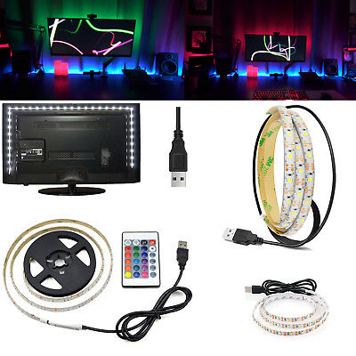 Waterproof 5V USB RGB LED Strip Lights 2835 SMD 1M 2M 3M TV BackLight Bar RC501