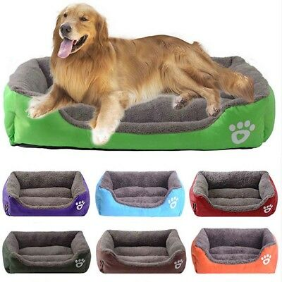 6 Size Large Pet Dog Cat Bed House Warm Soft Blanket Puppy Cushion Kennel Mat