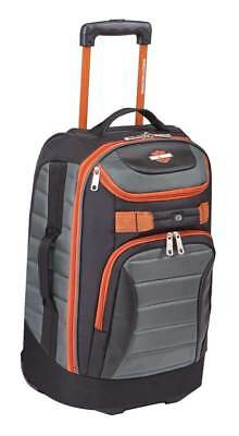 "Harley-Davidson 21"" Quilted Carry-On Luggage Bag w/ Wheels 99323 GRAY/RUST"