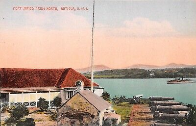 Fort James From North, Antigua British West Indies, Divided Back Postcard