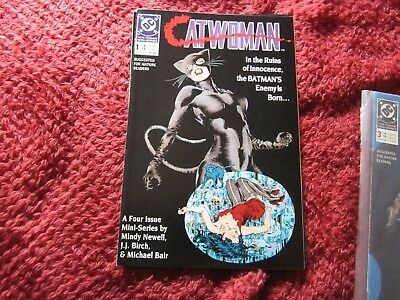 Catwoman 1989 mini series #1-4 complete- Batman- DC Comics