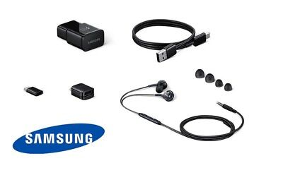 Samsung Accessories Bundle Galaxy S8 S9 Note 8 OEM Charger Headphone Adapter Set