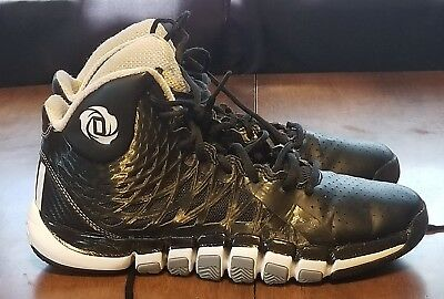 58632129043a ... inexpensive b24 adidas derrick rose 773 ii black white mens basketball  shoes size 7 257d8 fcb81 ...
