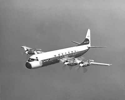 "Western Airlines Lockheed L-188 Electra ((8.5""x11"")) Print"