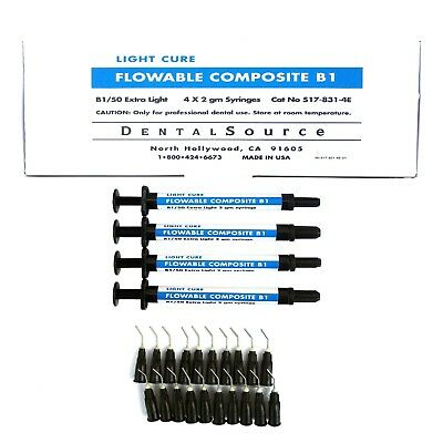Light Cure FLOWABLE Composite 4 Syringe Kit Shade B1