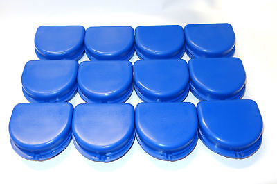 12 Dental Orthodontic Retainer Denture Mouth Guard Case Bleach - Blue