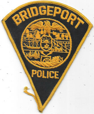 "Police Patch: Bridgeport Connecticut Police Measures 5 1/2"" X 4 1/2"""