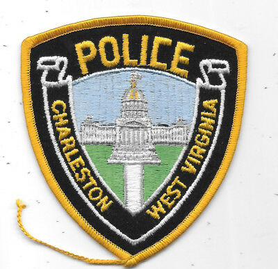 "Police Patch: Charleston West Virginia Police Patch Measures 4"" X 4 1/2"""