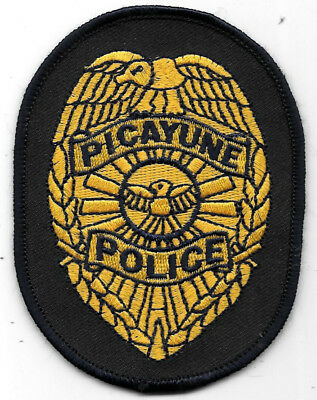"Police Patch: City Of Picayune Mississippi Police Patch Measures 3"" X 4"""