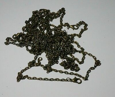 10 Bronze Linked Chains 60Cm X 1.5Mm Necklaces Accessories Findings