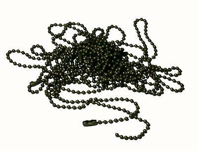 10 Bronze Ball Chains 60Cm X 1.5Mm Necklaces Military Chains
