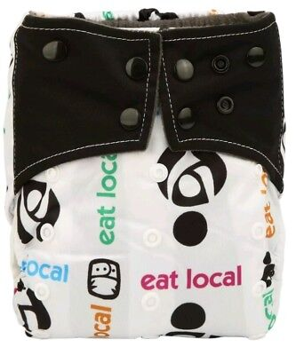 Eat Local Bamboo Charcoal Cloth Diaper Nappy Reusable Double Gussets Breastfeed