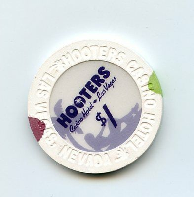 1.00 Chip from the Hooters Casino in Las Vegas Nevada Large Inlay