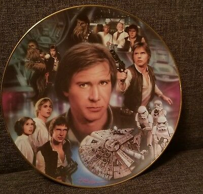 Star Wars Hamilton Collection Numbered Plate - Han Solo 1996
