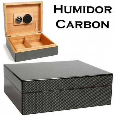 Cave a cigare Edition Limitée Carbone Humidor
