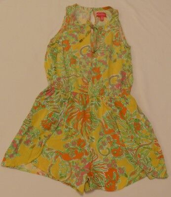 80d47ce80e3 Lilly Pulitzer for Target Challis Romper Happy Place size Medium Yellow  Pockets