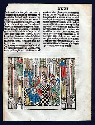 1499 Blatt XLVI Inkunabel Vita Christi Zwolle incunable Dutch Holland
