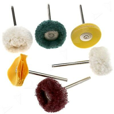 6Pcs Polishing Mop Wheel Buffing Pad Brushes For Dremel Rotary  Drill Bit