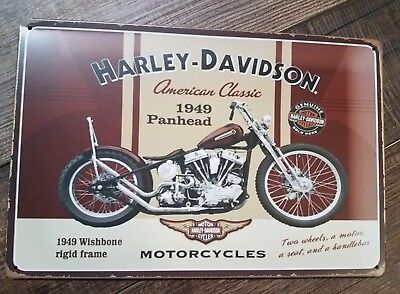Harley Davidson tin sign 12X8""