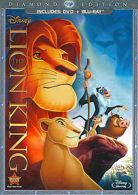 Brand New Sealed DISNEY LION KING (2 DISC Diamond Edition DVD Blu-Ray Slipcase)
