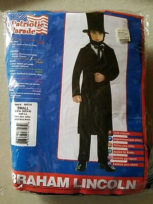 O NEW Child Rubies Abraham Lincoln Halloween Costume Size S
