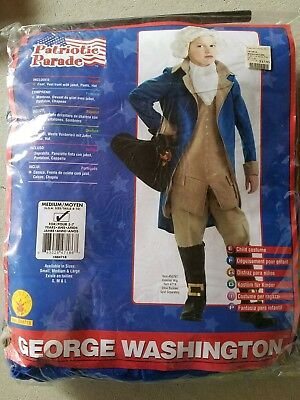 O NEW Child Rubies George Washington Halloween Costume Size M