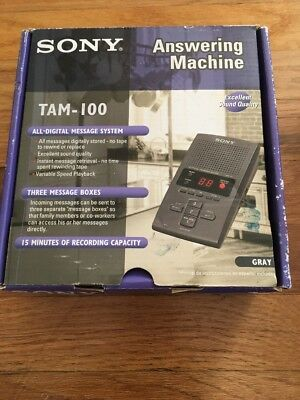 SONY TAM-100 Answering Digital Message System Machine 3 Mailboxes Memo Recording
