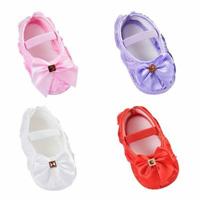 New Baby Girls Bow Wild Princess Cotton Cloth Soft Soled Shoes for 0-18 Months