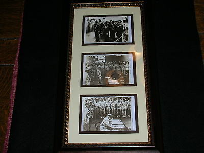 Japanese Surrender WW II (3 Photos, Framed)