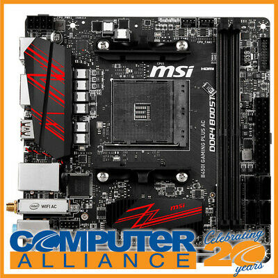 MSI AM4 Mini-ITX B450I GAMING PLUS AC DDR4 Motherboard