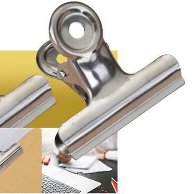 Bulldog Clips 6pcs Stainless Steel Money Letter Binder Paper File Clamp Lin