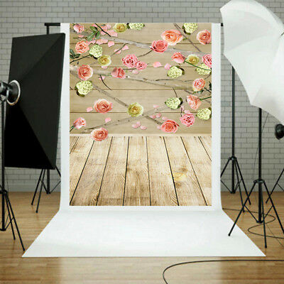 3*5FT Photography Studio Vinyl Backdrop Background Props wood wooden FAST SHIP