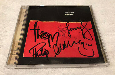 Radiohead Amnesiac Signed CD Thom York All Members Autographed