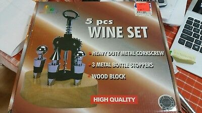 5 pcs wine set brand new bottle opener n stoppers was $59.9