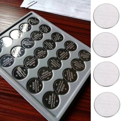 25 Pcs CR2032 3 Volt Button Cell Coin Battery for Toy Watch Remote Control Pop