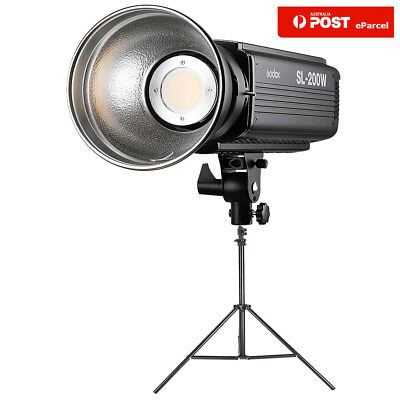 AU Godox SL-200W Studio LED Continuous Video Light White Vision+2m Light Stand