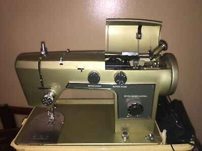 VINTAGE WARDS SIGNATURE Sewing Machine Metallic Green Heavy Duty New Vintage Signature Sewing Machine