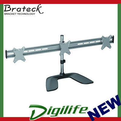 """Brateck Free Standing Three Horizontal LCD Monitors Stand from 13''-24"""""""