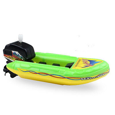 Kids Wind Up Boat Ship Float In Water classic Educational Summer Bath Toys Gifts